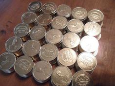"250 BULK LOT CABELA'S TOKENS TUMBLE-CLEANED, VERY NICE/SHINY .984"" / 25MM"
