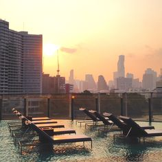 Pool area at the Millennium Hilton Bangkok Hotel, Thailand Hotel Thailand, Bangkok Hotel, Shabby Chic Furniture, Home Furniture, San Francisco Skyline, Places To Visit, River, Awesome, Outdoor