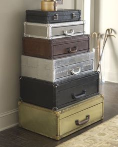 """""""Suitcase"""" Stacked Chest at Horchow."""