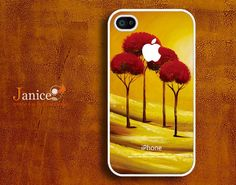 cases for iphone iphone 4s case iphone 4 cover  classic  painting red tree unique Iphone case. $13.99, via Etsy.