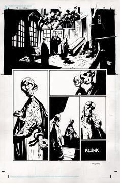 Original art by Mike Mignola in category Strips