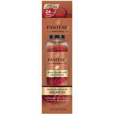 Pantene Pro-V Truly Natural Hair Shine Serum with Argan Oil, 1.7 fl oz