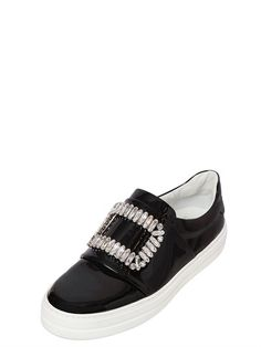 #RogerVivier patent leather SWAROVSKI PATENT LEATHER SNEAKERS