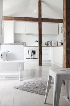 Design Stuff — Beautyful white kitchen (See more by clicking onto...