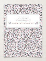 Cartes d'anniversaire Lavandine Bleu - recto