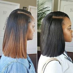 One is a sewin and one is a quick weave By #atlstylist @deejabthestylist