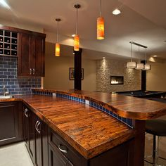 Bar Top Ideas Basement Alluring Wood Bar Top Design Pictures Remodel Decor And Ideas  Page 16 2017