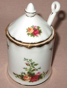 ROYAL-ALBERT-OLD-COUNTRY-ROSES-LIDDED-MUSTARD-PRESERVE-JAR-SPOON-BOXED-NEW