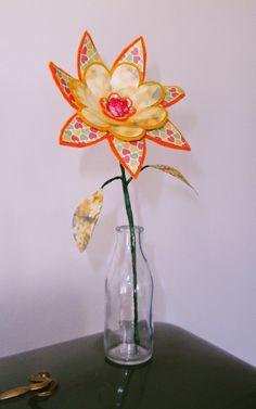 **alles-vanellis: bloemen van vilt en papier