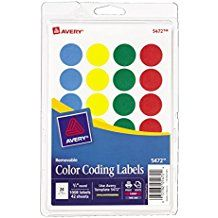 Option for circle color stickers, 3-5s, Week 4