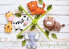 Mobile - Baby mobile, nursery mobile, baby mobile safari - ein Designerstück von KarapuzBoutique bei DaWanda