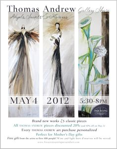 Art Show for Thomas Andrew at Four Seasons in Homewood! Thomas Andrews, New Words, House In The Woods, Four Seasons, Free Gifts, Angels, My Arts, Fine Art, Abstract