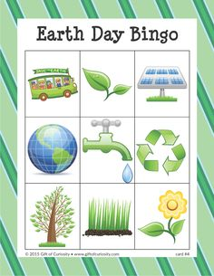 Earth Day Bingo - Gift of Curiosity Earth Day Games, Earth Day Activities, Diy Mother's Day Food, Mother's Day Diy, French Language Learning, Teaching Spanish, Spanish Language, Sign Language, French Lessons