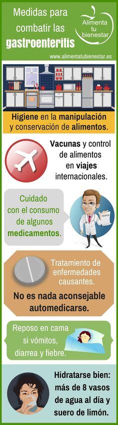 Infografía Medidas para combatir la gastroenteritis