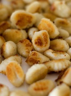 Sauteed gnocchi! No boiling! This is dinner tonight...