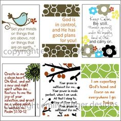 Scripture to hang on a mirror or in the car