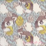 Sarah Watts Timber & Leaf Playful Fox Blue [BF-110-103-01-2] - $10.45 : Pink Chalk Fabrics is your online source for modern quilting cottons and sewing patterns., Cloth, Pattern + Tool for Modern Sewists