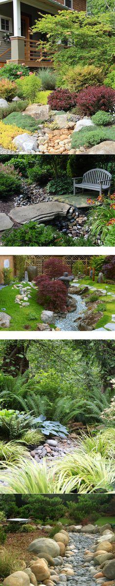 Идея дизайна Dry Creek Beds Landscaping Дизайн интерьера, фото, декор и идеи для дома