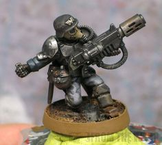 Warhammer 40k: Imperial Guard, Converted Death Korps Grenadier via From the Warp