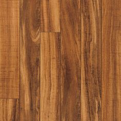 Hawaiian Curly Koa smooth laminate floor. Dark koa wood finish, 10mm 1-strip plank laminate flooring, easy to install and PERGO lifetime warranty.