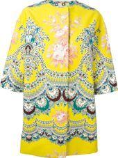 MSGM - floral baroque print coat #genteroma