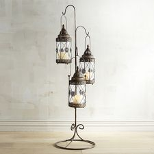 Jewel Round Hanging Floor Lanterns