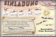 Die originelle Einladungskarte zur Jugendweihe in verschiedenen Gestaltungsvarianten