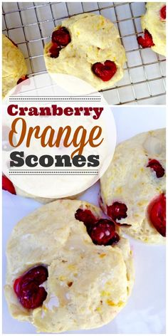 Cranberry Orange Scone Recipe perfect for Thanksgiving breakfast! | CatchMyParty.com