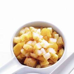 Appel-abrikozencompote Fruit Salad, Homemade, Food, Fruit Salads, Home Made, Essen, Meals, Yemek, Hand Made