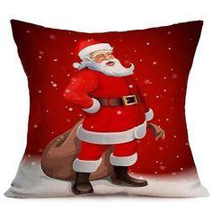 Christmas Cartoon Decoration Festival Home Sofa Decor Pillow Case Cushion Cover