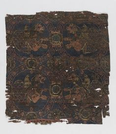 Woven silk Place of origin: Iran (probably, made)  Turkey (possibly, made) Date: 8th century to 9th century  Materials and Techniques: Pattern woven silk Museum number: 761-1893   V&A