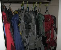 Ideas for storing your gear in a tiny apartment.