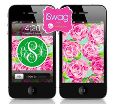 Personalized Monogram iPhone Wallpaper // Preppy by BeeWDesigns, $3.00