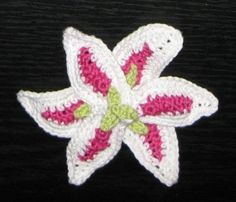 Lily Flower Motif Crochet | Lily Flower Crochet Patterns | Add it to your favorites to revisit it ...