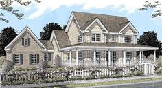 Country Style House Plans - 2252 Square Foot Home , 2 Story, 4 Bedroom and 3 Bath, 3 Garage Stalls by Monster House Plans - Plan 11-235
