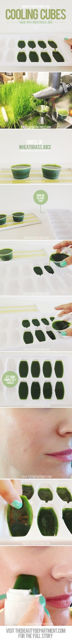Time for a simple DIY with some wheatgrass juice! Visit TBD for a brief snippet about the healing benefits and for the full tutorial!