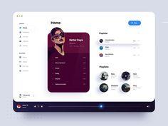 Music Player by Aurélien Salomon ➔ for Orizon: UI/UX Design Agency on Dribbble Design Web, App Ui Design, Interface Design, User Interface, Dashboard Ui, Dashboard Design, Music Poster, Web Mobile, Poster Design