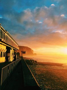 The Beach Hut bathed in light at Watergate Bay