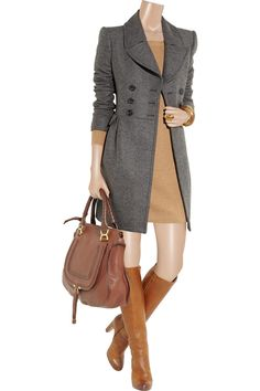 BURBERRY LONDON - Double-breasted wool-blend coat