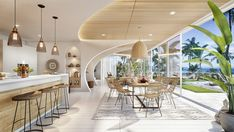 Vastu Villa on Behance Modern Tropical, Tropical Houses, Best Interior, Interior Design, Villa Design, Staircase Design, Poufs, My Dream Home, Decoration