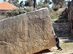 The largest discovered monolith in Baalbek still makes archaeologists wonder, how could the 800 tons stone be moved and lifted ?