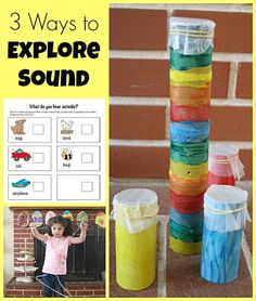 Many of our science activities at home involve learning about sound. Here are three of our favorites!