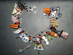 The Nightmare Before Christmas Charm Bracelet. This would be the best thing ever to have. $250.00