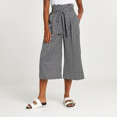 Black Trousers, Trousers Women, River Island Womens, Suits You, Style Guides, Floral Prints, Puffed Sleeves, Latest Fashion, Model