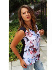 10830e8dc35 Топ без ръкав летен на цветя българско производство на ниска цена купете от  онлайн магазин за. Магазин Дамски дрехи JULIA