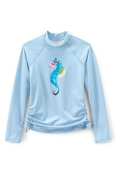Girls Graphic Side Tie Rash Guard from Lands' End