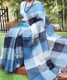 site>>PANDORA Jewelry Online Shop More than off! Cotton Saree Designs, Saree Blouse Neck Designs, Silk Saree Kanchipuram, Tussar Silk Saree, Indian Attire, Indian Wear, Indian Suits, Bengal Cotton Sarees, Peacock Embroidery Designs