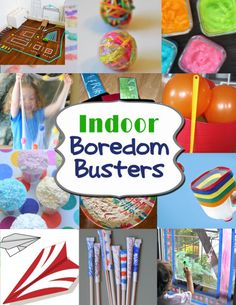Indoor Boredom Busters for those hot hot or cold cold months that prevent your littles from going outside!   Over the Big Moon