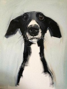 Ideas For Illustration Art Dog Paintings Animal Paintings, Animal Drawings, Art Drawings, Drawing Faces, Art Sketches, Black And White Dog, Black And White Artwork, Black Art, Ouvrages D'art
