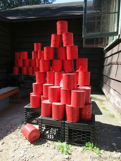 Fire buckets at #Yawgoog!  A 2015 image by David R. Brierley.